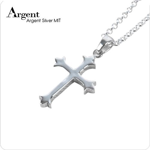 小聖十字造型純銀項鍊銀飾