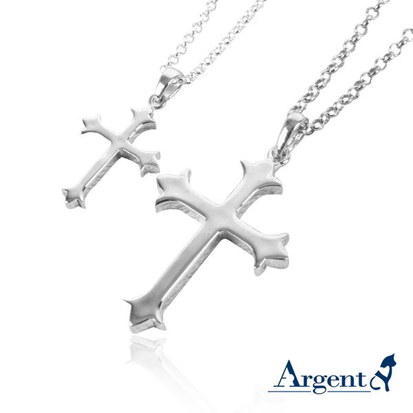 聖十字造型情人純銀對鍊|情侶對鍊推薦
