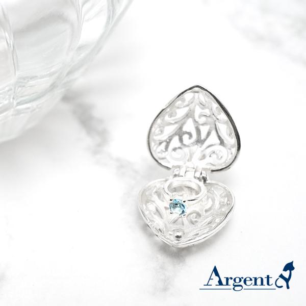 「心鑽」隱藏戒指版純銀項鍊|銀項鍊推薦