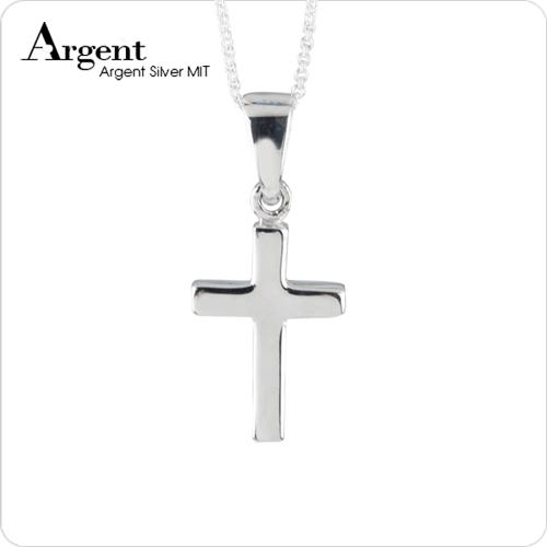 小方柱十字架純銀項鍊銀飾