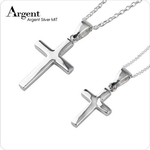 方柱十字架情人純銀對鍊|中+小墜|情侶對鍊推薦