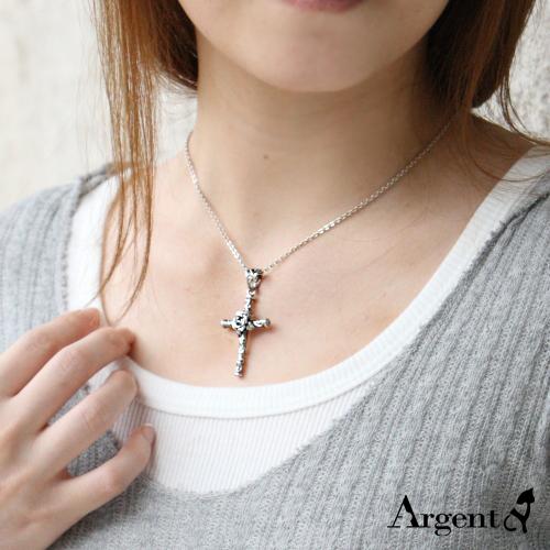 玫瑰十字造型純銀項鍊銀飾|銀項鍊推薦