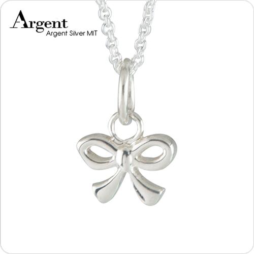 小蝴蝶結可愛造型純銀項鍊銀飾