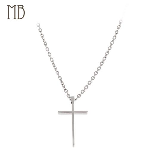 「立體十字架」造型白鋼項鍊|防過敏316L醫療鋼項鍊