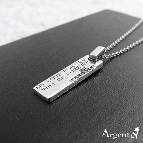 桃紅鑽天生伴侶造型純銀項鍊銀飾|銀項鍊推薦