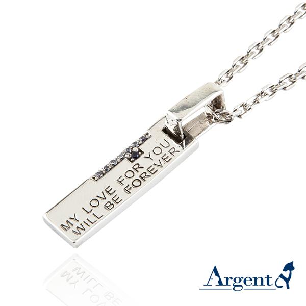 藍鑽天生伴侶造型純銀項鍊銀飾|銀項鍊推薦