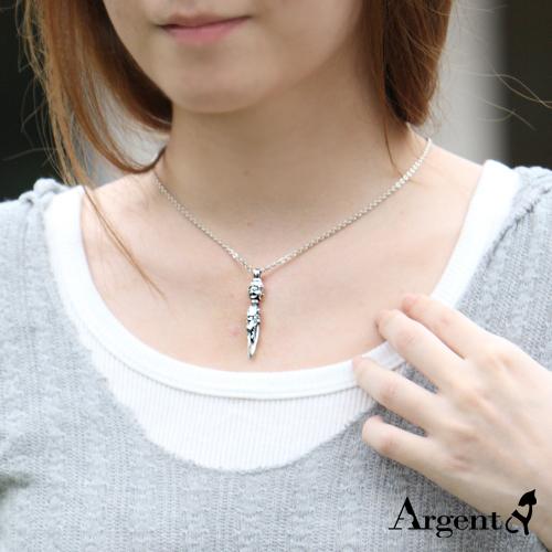 「金剛杵」宗教風格純銀項鍊|銀項鍊推薦