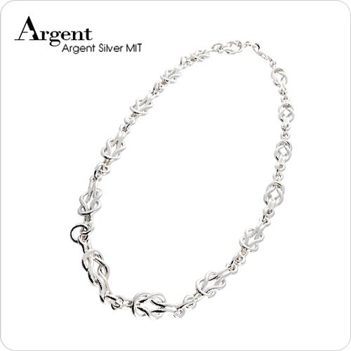 環環相扣造型純銀項鍊銀飾
