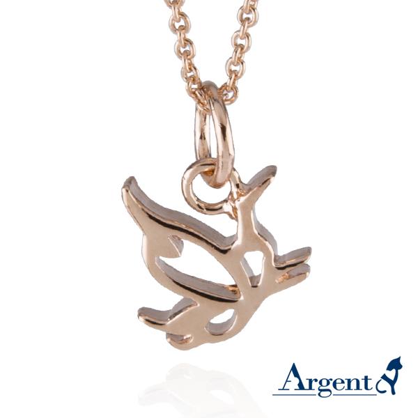 小鳳蝶簍空造型純銀項鍊銀飾
