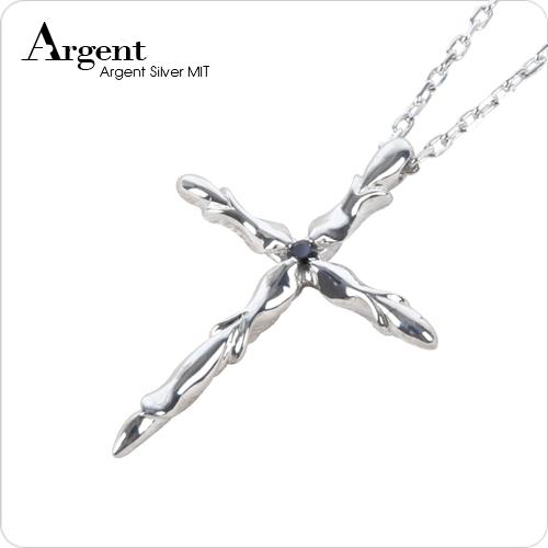 晶鑽贖罪造型純銀項鍊銀飾|銀項鍊推薦