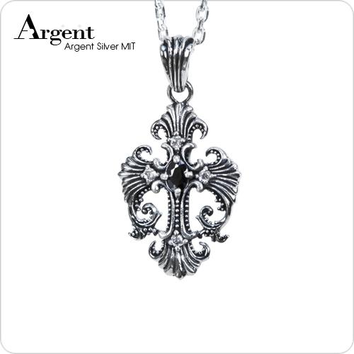 鳳凰十字造型純銀項鍊銀飾