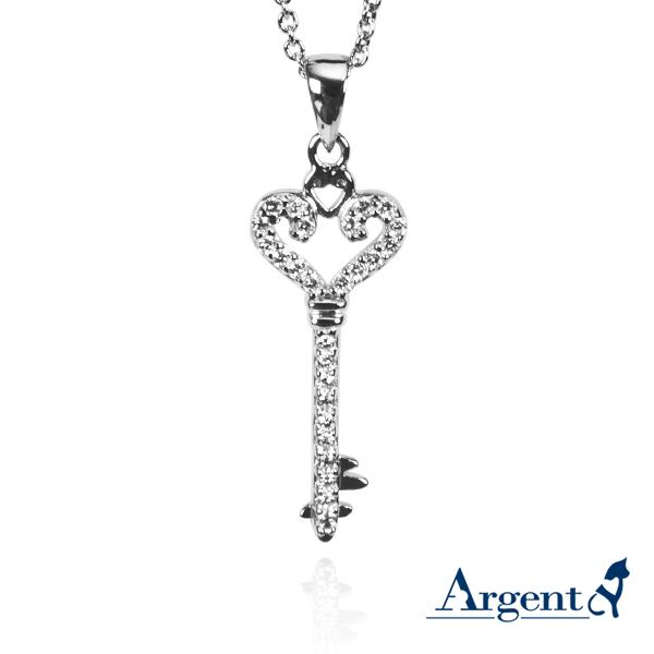 愛心鑰匙造型純銀項鍊銀飾 銀項鍊推薦
