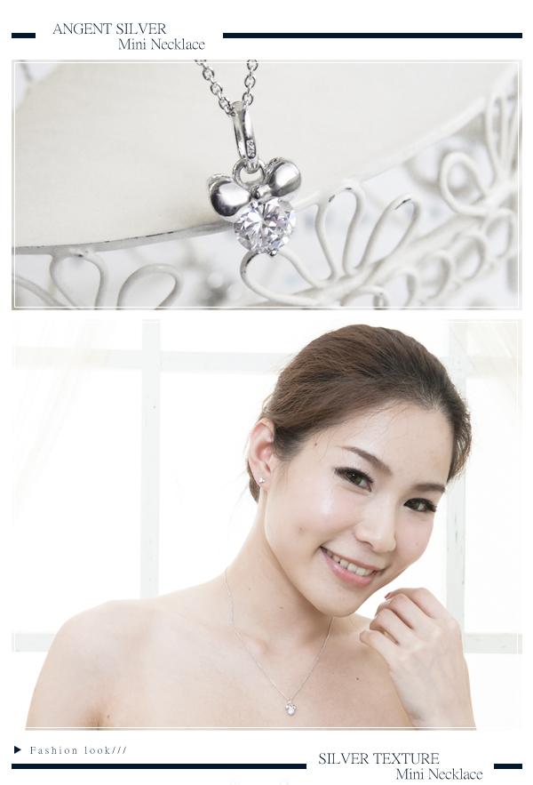 浪漫情結(白K金)純銀項鍊|銀飾推薦