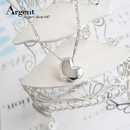 深刻的愛雕刻造型純銀項鍊銀飾