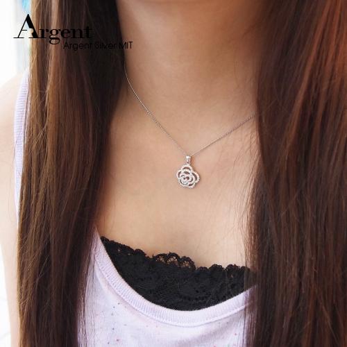「浪漫花神」造型純銀項鍊銀飾|銀項鍊推薦
