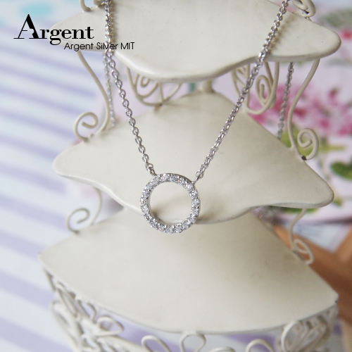 「情圓」簍空造型純銀項鍊銀飾|銀項鍊推薦