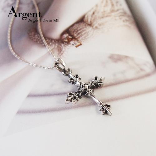 皇家十字造型純銀項鍊銀飾