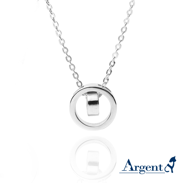 小版「真情相依」造型純銀項鍊銀飾