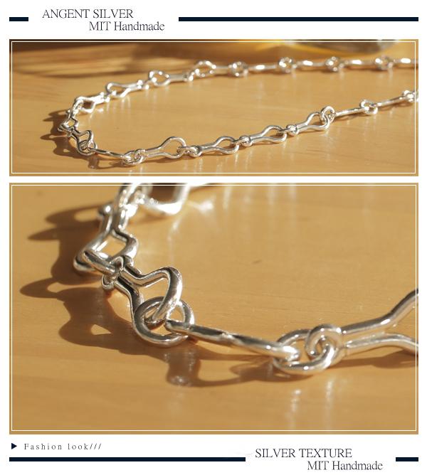 刻骨銘心造型純銀項鍊銀飾|銀項鍊推薦