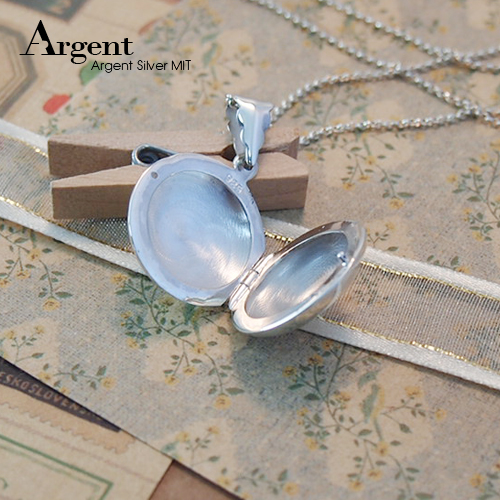 中圓型凸鏡面純銀項鍊銀飾