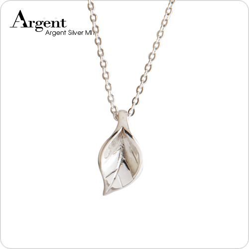 小「葉戀」造型純銀項鍊銀飾|銀項鍊推薦