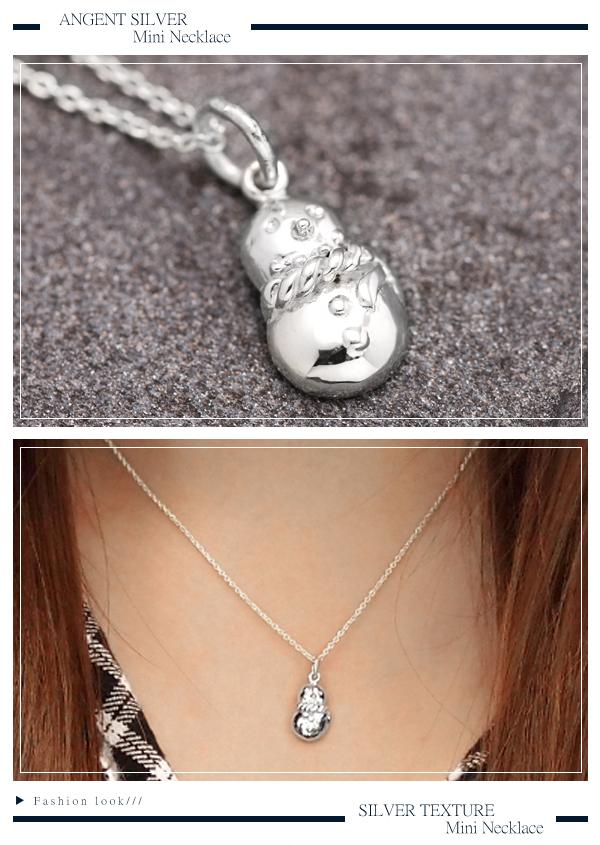 小雪襪耶誕主題純銀項鍊銀飾