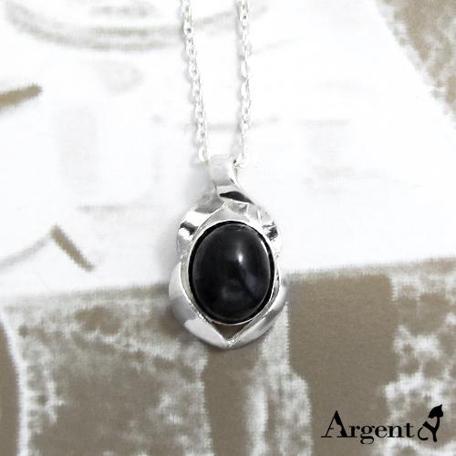 捲花寶鏡天然寶石純銀項鍊銀飾|銀項鍊推薦