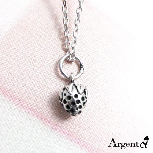 小草莓可愛造型純銀項鍊銀飾