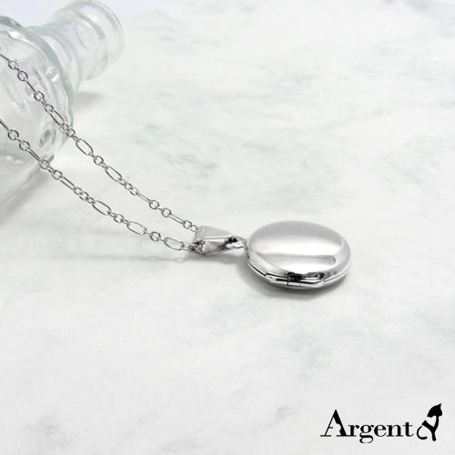 圓型中平鏡面純銀項鍊銀飾