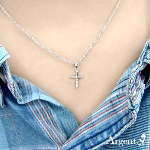 半紋十字造型純銀項鍊銀飾|銀項鍊推薦