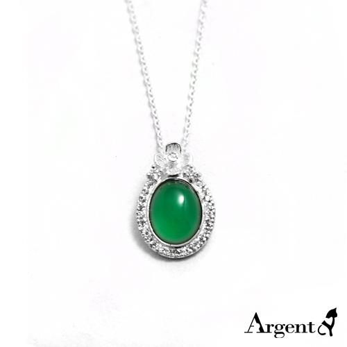 富花寶鏡天然寶石純銀項鍊銀飾|銀項鍊推薦