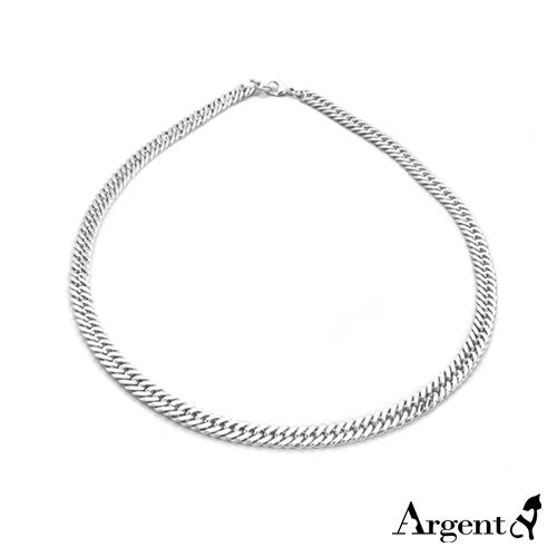雙層扁鍊9mm單條純銀項鍊銀飾|銀項鍊推薦