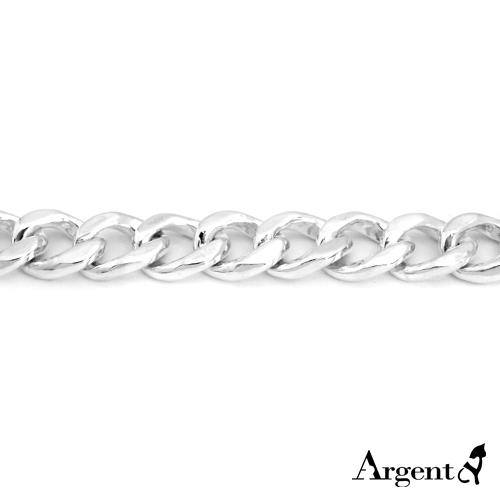 扁鍊10mm單條純銀項鍊銀飾