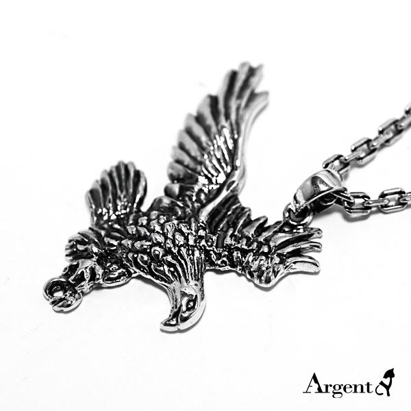 老鷹造型動物雕刻純銀項鍊銀飾