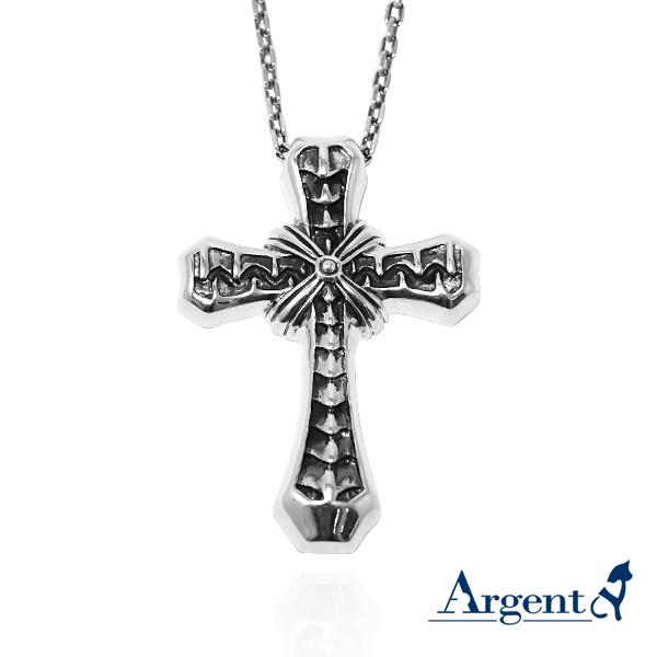 「交炙十字」十字架純銀項鍊|