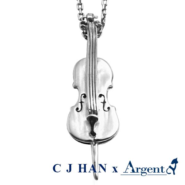大提琴造型純銀項鍊