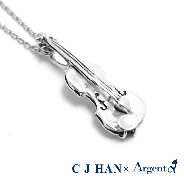 小提琴造型純銀項鍊