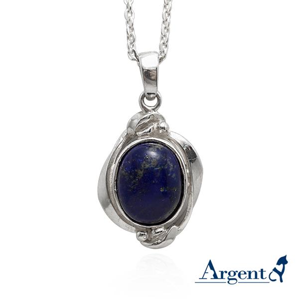 菱紋寶鏡天然寶石純銀項鍊銀飾|銀項鍊推薦