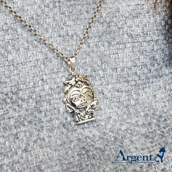 「Q版註生娘娘」神明系列銀飾|銀項鍊推薦