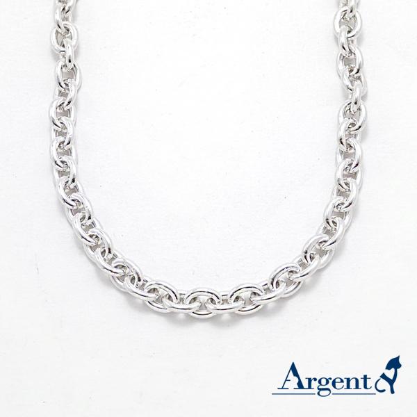 單條橢圓8mm純銀項鍊銀飾|銀項鍊推薦
