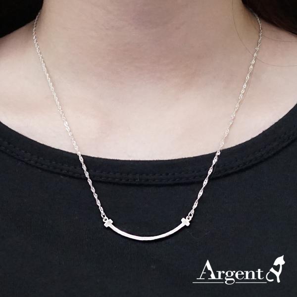 「微笑(大)」造型純銀項鍊銀飾