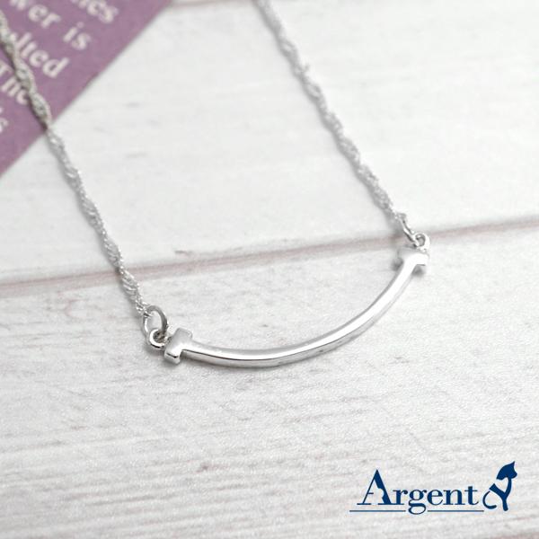 「微笑(小)」造型純銀項鍊銀飾
