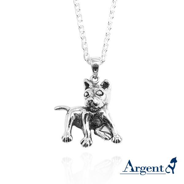 台灣犬造型純銀項鍊銀飾