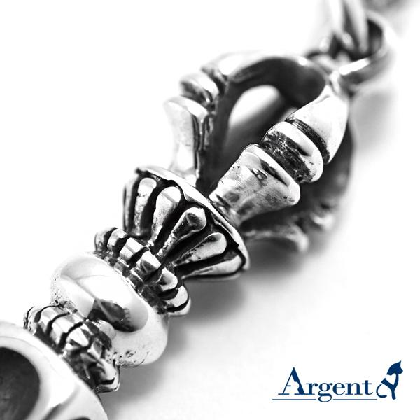 「降魔杵」宗教風格純銀項鍊|銀項鍊推薦
