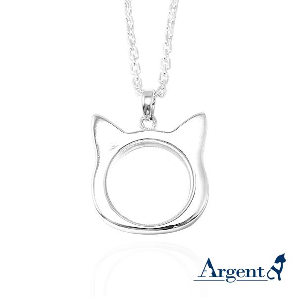 貓咪寶盒純銀項鍊|