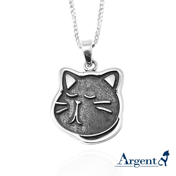 黑貓小黑-染黑-造型動物雕刻純銀項鍊銀飾