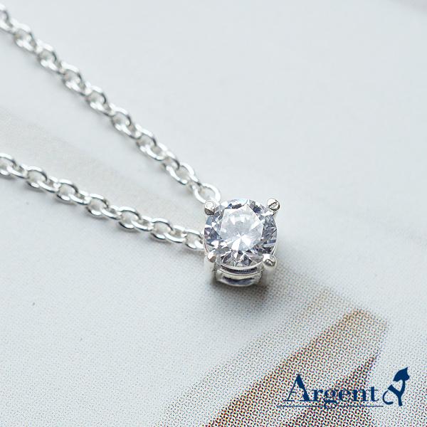 「彩虹之鑽-白色鑽」純銀項鍊銀飾