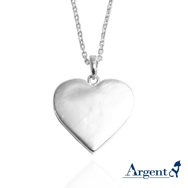 愛心寶盒純銀項鍊|