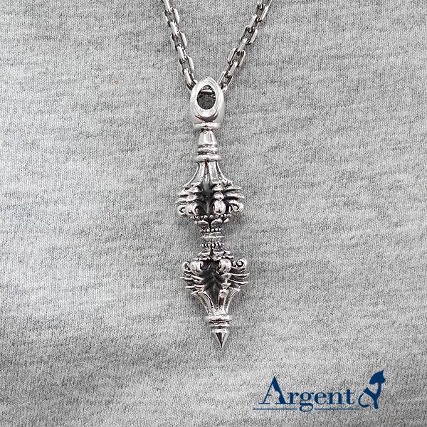 「(小)寶杵(金剛杵)」宗教風格純銀項鍊|銀項鍊推薦