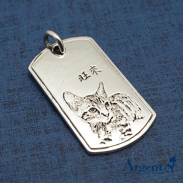 立體軍牌刻圖項鍊銀飾|客製化項鍊刻字訂做